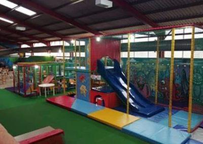 Indoor drop slides