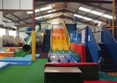 Indoor slides and play area